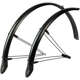 "Hebie Rainline Mudguard Set 28"" 53mm with Braces matte black premium"